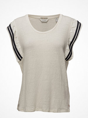 Scotch & Soda Tee In Special Jersey With Ruffle Sleeve