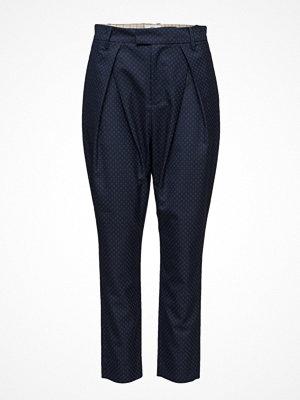 Noa Noa marinblå mönstrade byxor Trousers