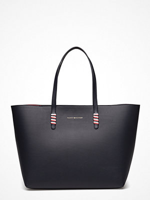 Tommy Hilfiger svart shopper Stitch Leather Tote