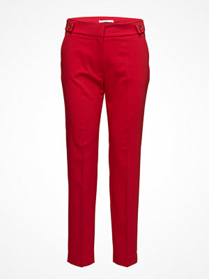 Mango röda byxor Rings Straight Trousers