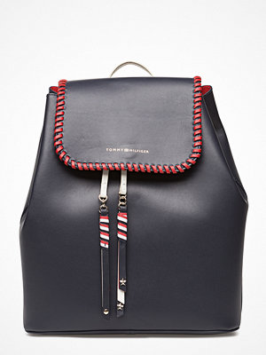 Tommy Hilfiger omönstrad ryggsäck Stitch Leather Backpack