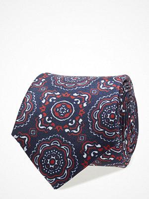 Slipsar - Tommy Hilfiger Tailored Silk Geo Print 7cm Tie