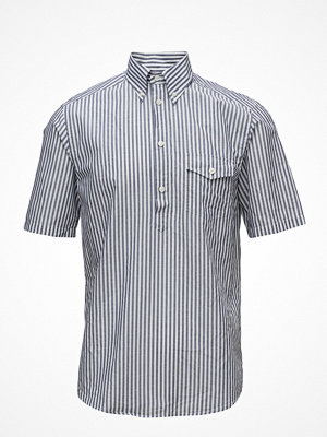 Eton Blue Striped Popover Shirt