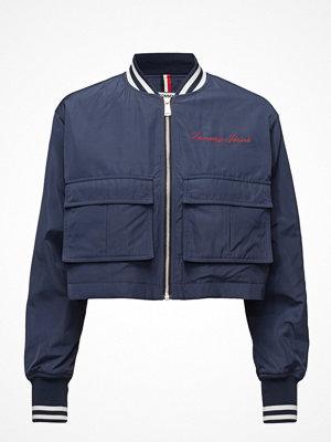 Tommy Jeans omönstrad bomberjacka Tjw Cropped Jacket