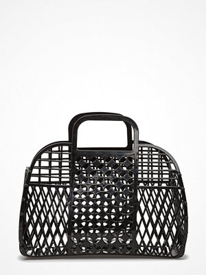 Mango svart shopper Laser-Cut Design Bag
