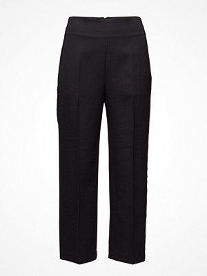 3.1 Phillip Lim svarta byxor Tailored Pant W Grosgrain Trim