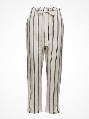 Mango randiga byxor Linen High-Waist Trousers