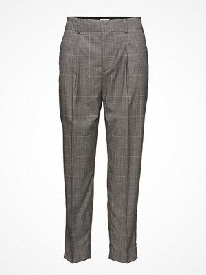 Filippa K grå rutiga byxor Simone Checked Trousers