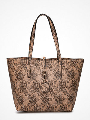 Rosemunde beige axelväska med tryck Bag Big