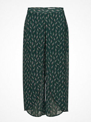 Rodebjer mörkgröna byxor med tryck Nola Seaflower