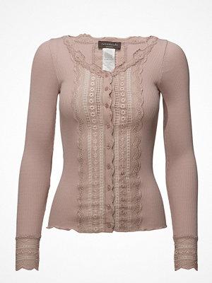 Rosemunde Silk Cardigan Regular Ls W/Wide Lace