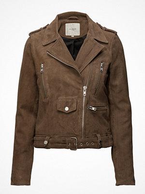 Skinnjackor - Selected Femme Sfsarah Suede Biker Jacket Camp J