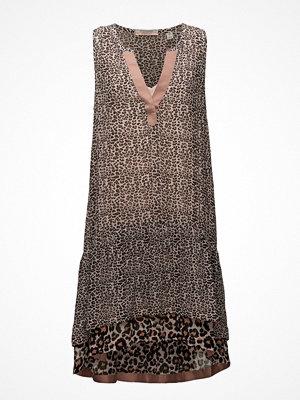 Scotch & Soda Sleeveless Animal Print Mixed Dress