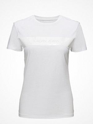 Calvin Klein Jeans Logo Vinyl Stripe Regular  Fit Tee