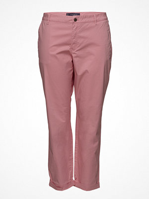 Violeta by Mango omönstrade byxor Cotton Crop Trousers
