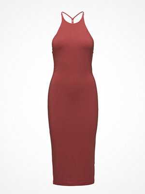 T By Alexander Wang Stretch Jersey Sleevelesst-Back Fitted Midi Dress