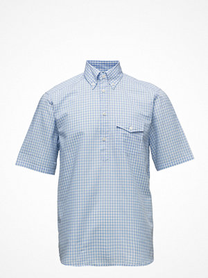 Eton Sky Blue Check Popover Shirt
