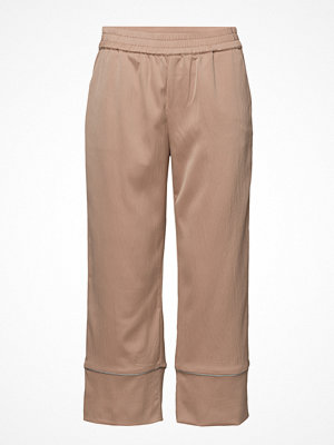 Pulz Jeans beige byxor Gloria Pant Ankle Length