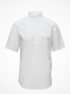 Eton White Short Sleeve Popover Shirt