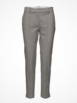 Mango grå byxor Flecked Suit Trousers
