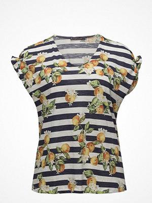 Violeta by Mango Printed Striped T-Shirt