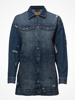 Only Onlcrispy Long Denim Jacket Mb Noos