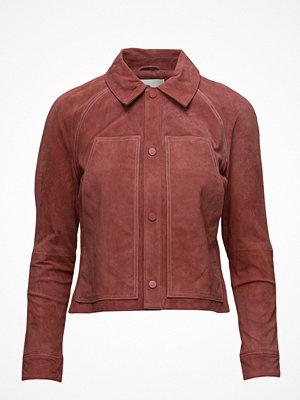 Skinnjackor - Mango Stich Leather Jacket