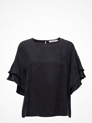 Coster Copenhagen Cupro Top W. Volant Sleeves