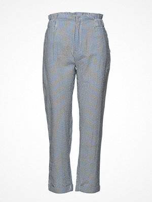 Mango grå randiga byxor Fine-Stripe Suit Trousers