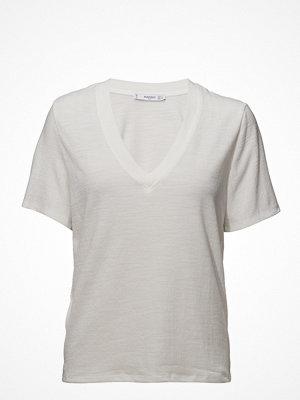 Mango Ribbed V-Neck T-Shirt