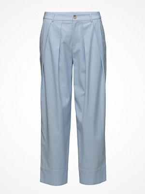 ÁERON himmelsblå byxor High Waist Pleated Pants