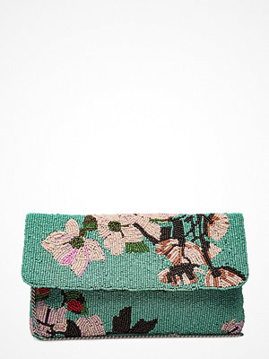Becksöndergaard grön kuvertväska med tryck Dacy Flower