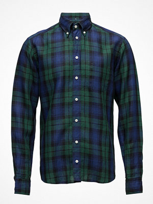 Eton Green & Blue Checked Linen Shirt