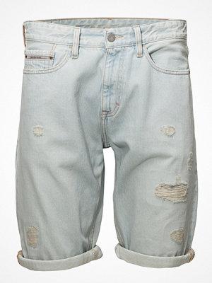 Shorts & kortbyxor - Calvin Klein Jeans Slim Shorts - Berlin Blue Dstr Rgd