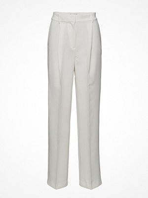 Mango vita byxor Pleat Detail Trousers