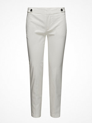 Mango vita byxor Cropped Button Pants