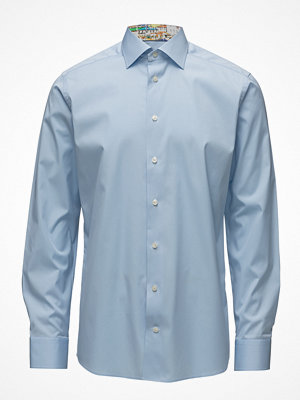 Eton Sky Blue Shirt With Skyline Of Lisbon Print