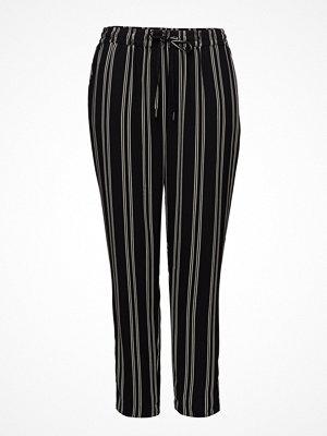 Violeta by Mango svarta randiga byxor Printed Baggy Trousers