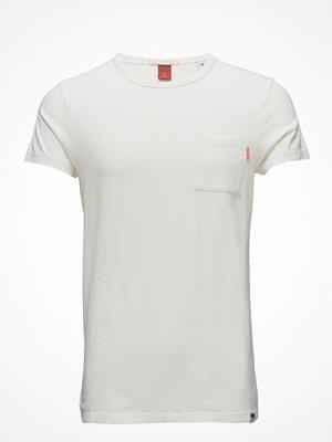 T-shirts - Scotch & Soda Ams Blauw Garment Dyed Tee Regular Fit