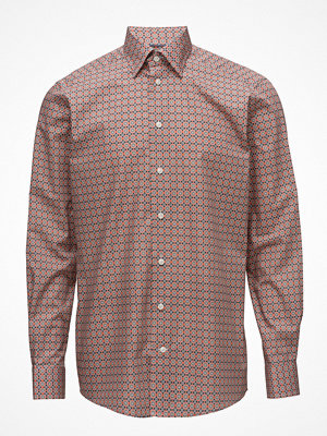 Eton Orange Floral Button Under Shirt