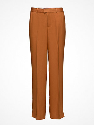 Scotch & Soda bruna byxor Wide Leg Tailored Pant In Bright Colours Or Floral Print