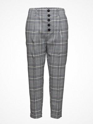 Mango grå rutiga byxor Check Suit Trousers
