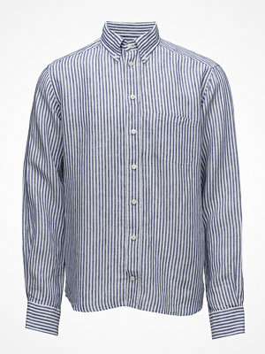 Eton Navy Striped Linen Shirt
