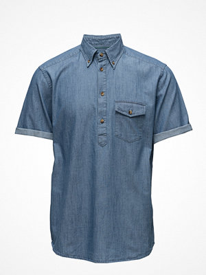 Eton Denim Short Sleeve Popover Shirt
