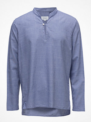 Eton Blue Lightweight Twill Popover Shirt