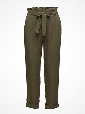 Mango omönstrade byxor Paper Bag Trousers