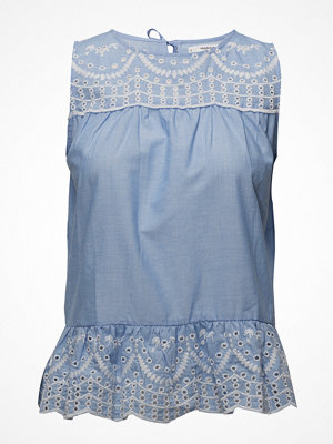 Mango Embroidered Openwork Blouse