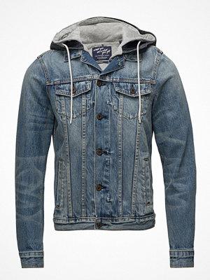 Jeansjackor - Scotch & Soda Ams Blauw Washed Trucker Jacket