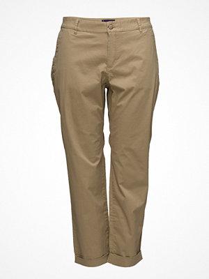 Violeta by Mango omönstrade byxor Cotton Crop Trousers