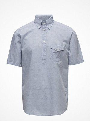 Eton Sky Blue Short Sleeve Popover Shirt